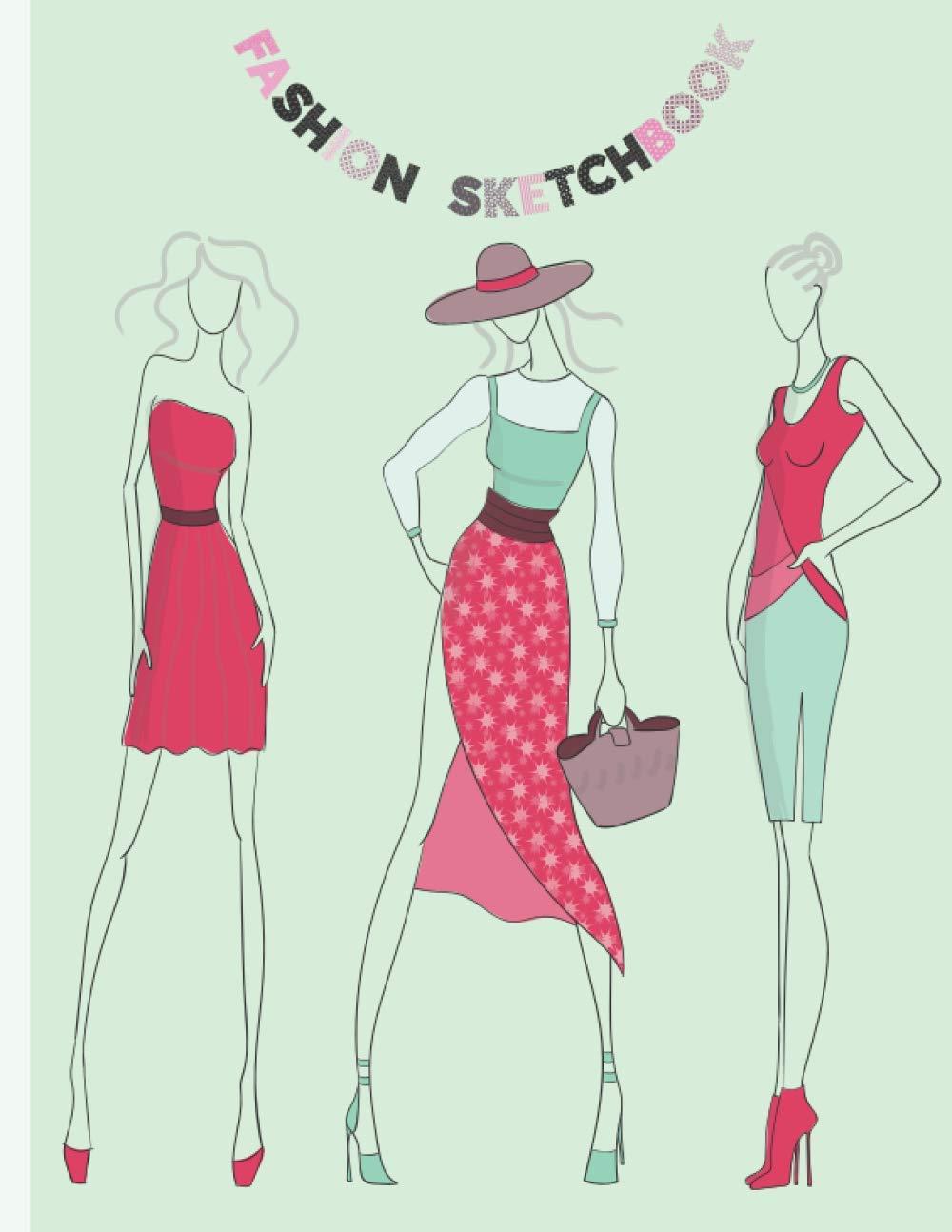 Fashion sketchbook Fashion design sketchbook Notebook with ...