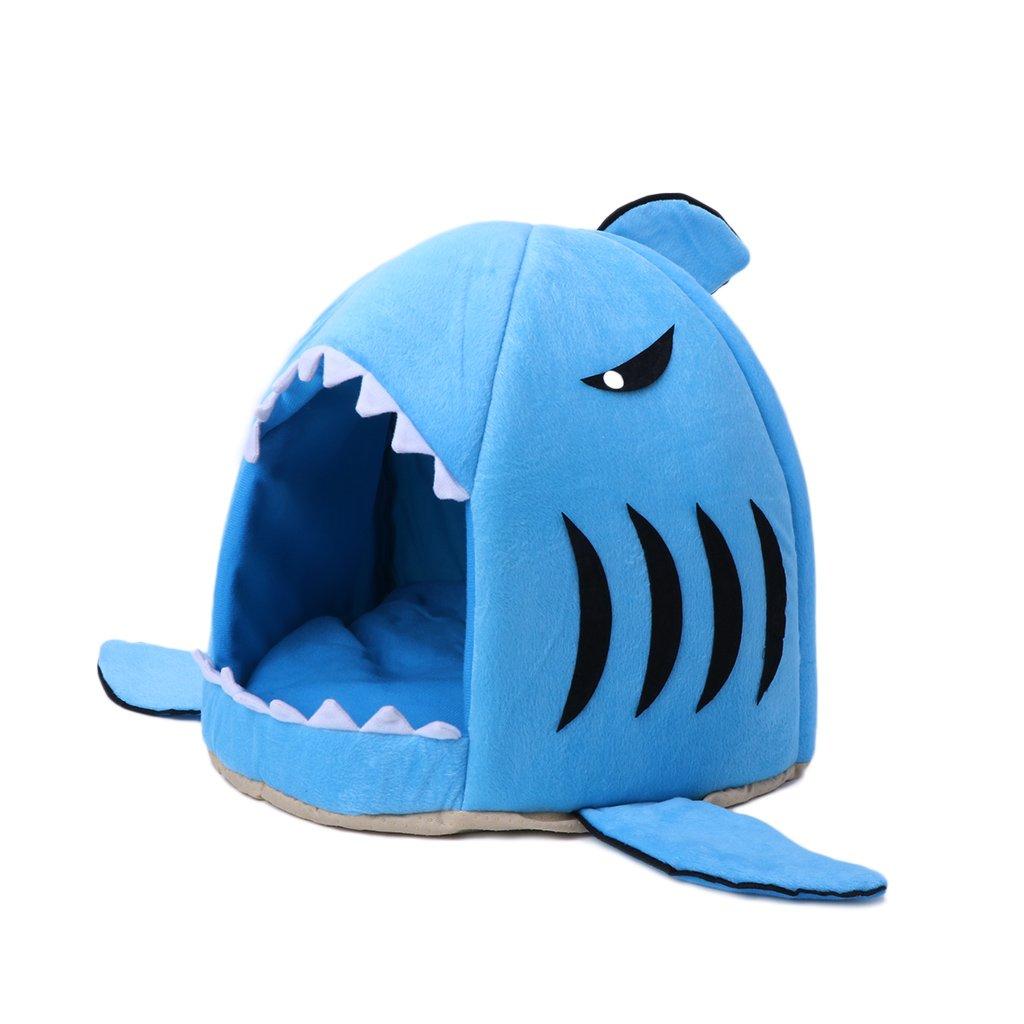 Amazon com : Doober Shark Mouth Teddy Pet Dog Cat Bed House