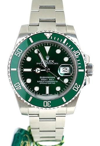Rolex Submariner Date 40 Mm Verde Dial Mens Reloj 116610: Amazon.es: Relojes