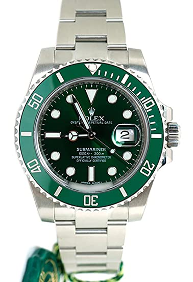 Rolex Submariner Date 40 Mm Verde Dial Mens Reloj 116610: Amazon.es: Relojes