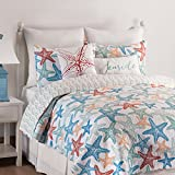 C&F Home Kalani Quilt Set, Twin, Blue
