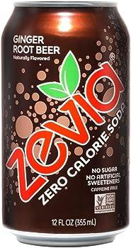 24-Pack Zevia Zero Calorie 12oz Soda Cans (Ginger Root Beer)