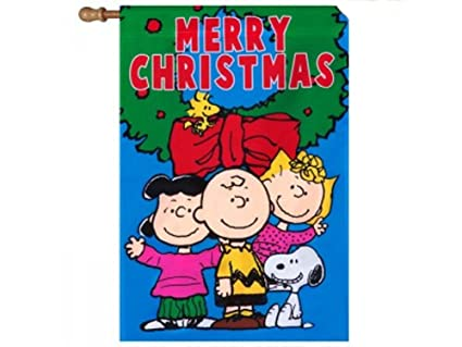 peanuts snoopy merry christmas flag size 28 inches x 40 inches new - Snoopy Merry Christmas Images