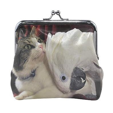 Amazon.com: Rh Studio - Monedero con diseño de gato y loro ...