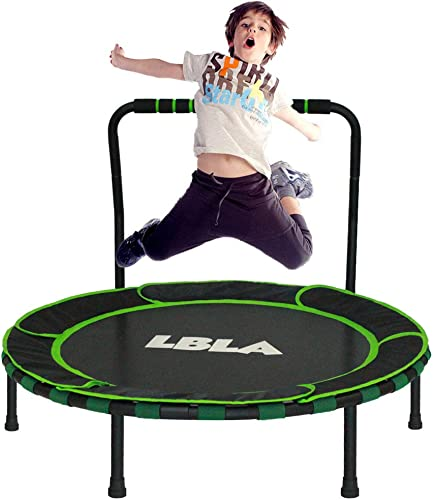LBLA 36-Inch Trampoline for Kid Foldable Children Trampoline with Adjustable Handrail Safty Padded Cover Indoor Outdoor Use for Child Age 3