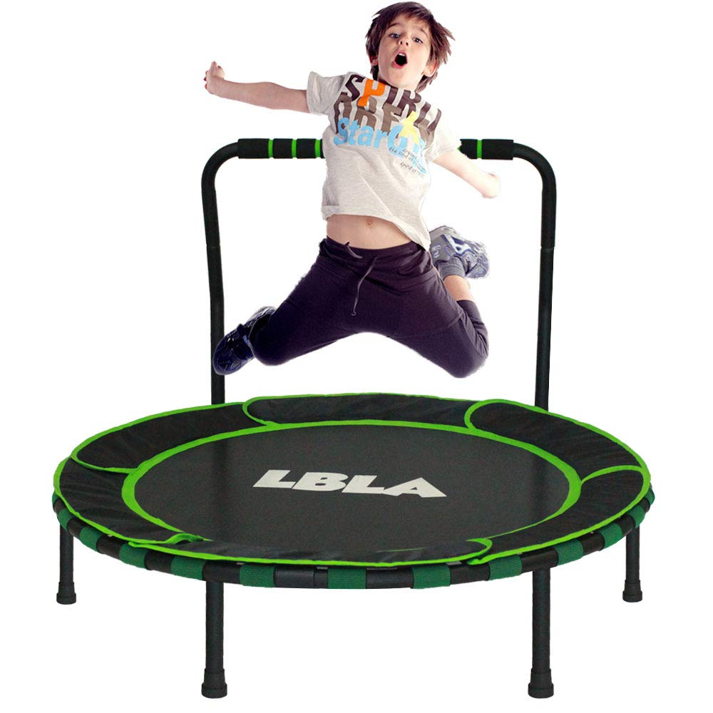 LBLA 36-Inch Trampoline for Kid Foldable Children Trampoline with Adjustable Handrail Safty Padded Cover Indoor/Outdoor Use for Child Age 3+ by LBLA