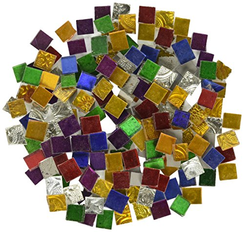 Jennifer's Mosaics 1-Pound Variety Mosaic Mirror Tile, Assorted (Assorted Mirror Tile)