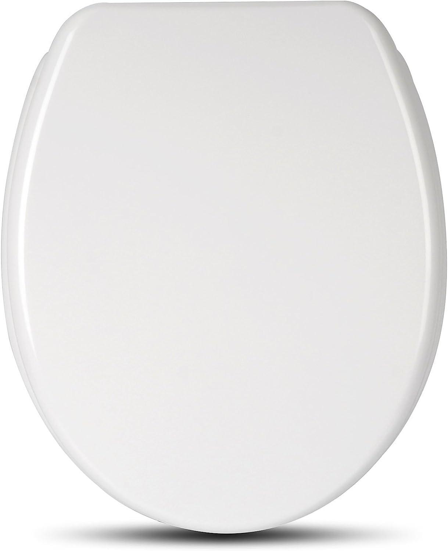 eSituro STS0206 Abattant WC Fonction softclose Si/ège de Toilette Couvercle de WC en MDF Charni/ères en Zinc chrom/é