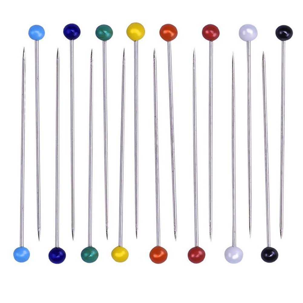 LEFV/™ Quilting Pins Ball Head Sewing Pins,Pack of 100,Light Blue
