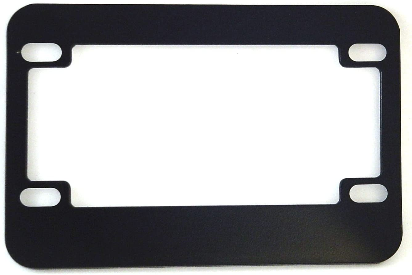Black Motorcycle Scooter License Plate Frame Round Spider