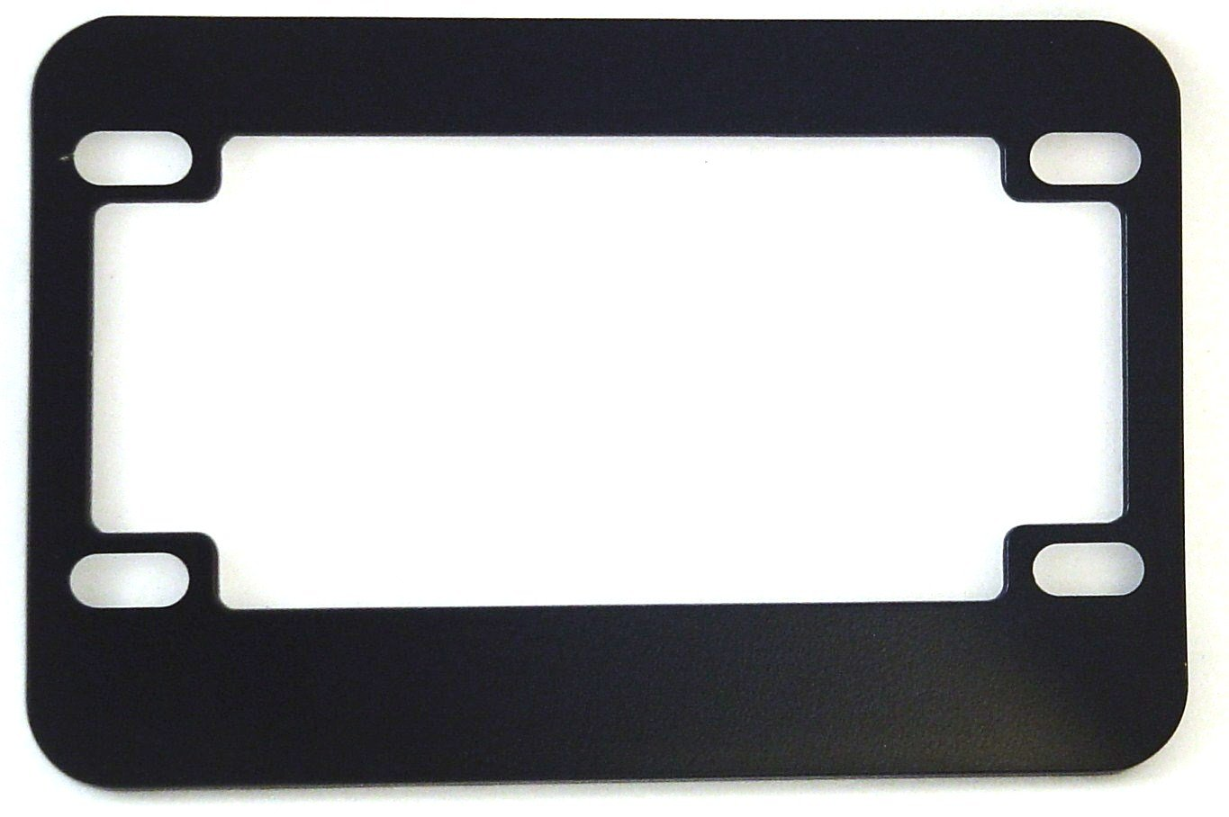 Motorcycle License Plate Frame (Blank Black Metal) License Plate Shop USA MF100B