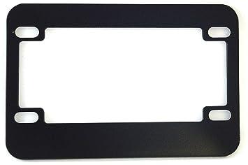 motorcycle license plate frame blank black metal - Motorcycle License Plate Frames
