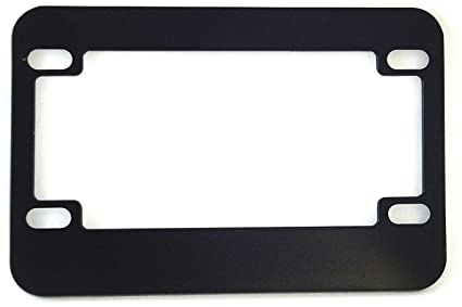 Amazon.com: Motorcycle License Plate Frame (Blank Black Metal ...