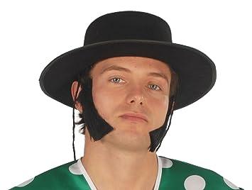 GUIRMA - Sombrero cordobes flocado negro: Amazon.es: Juguetes y juegos