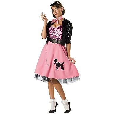 Amazon.com: 50 s BAD GIRL caniche falda traje adulto, S ...