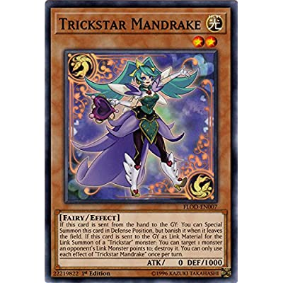 Trickstar Mandrake - FLOD-EN007 - Common - 1st Edition - Flames of Destruction: Toys & Games