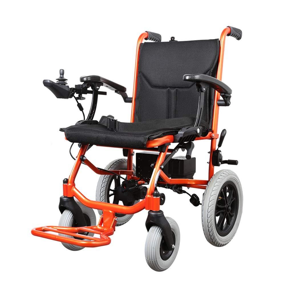 お待たせ! 新しい電動車椅子 - : 軽量の障害者用高齢者用車椅子折りたたみ式ブラシレスモーターリチウム電池 B07P849CQB (色 : Orange) Orange) Orange B07P849CQB, PUICK:0e061b27 --- a0267596.xsph.ru