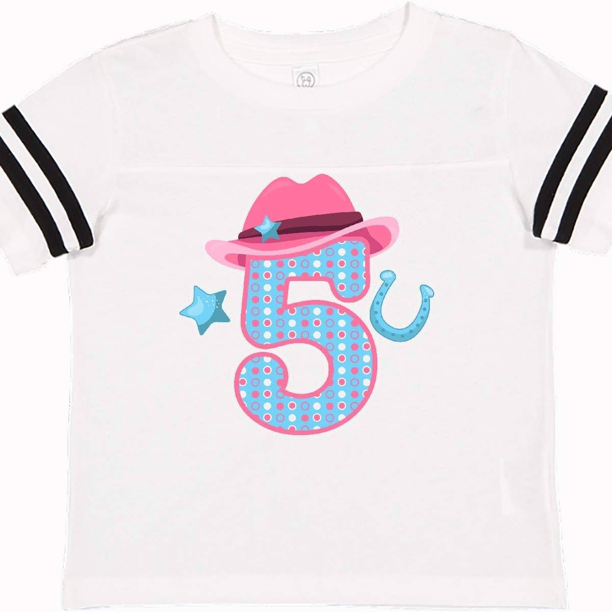 inktastic 5 with Cowgirl Hat Star and Horseshoe Toddler T-Shirt