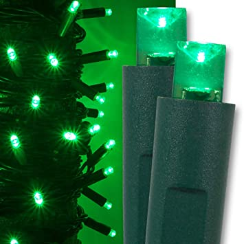 Image Unavailable. Image not available for. Color: Kringle Traditions Green  LED Christmas Mini String Light ... - Amazon.com : Kringle Traditions Green LED Christmas Mini String