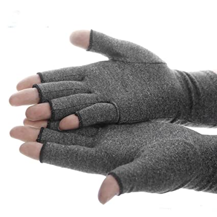 save up to 80% low priced fashion Compression Arthritis Gloves Active Gloves Hand Therapy Fingerless Gloves  for Men Women Grey Increase Circulation Reducing Pain (M)