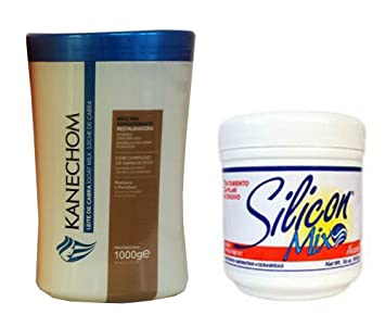 Kanechom Hair Treatment with Goats Milk (Leite de Cabra) 1kg + Silicon Mix Treatment 16oz