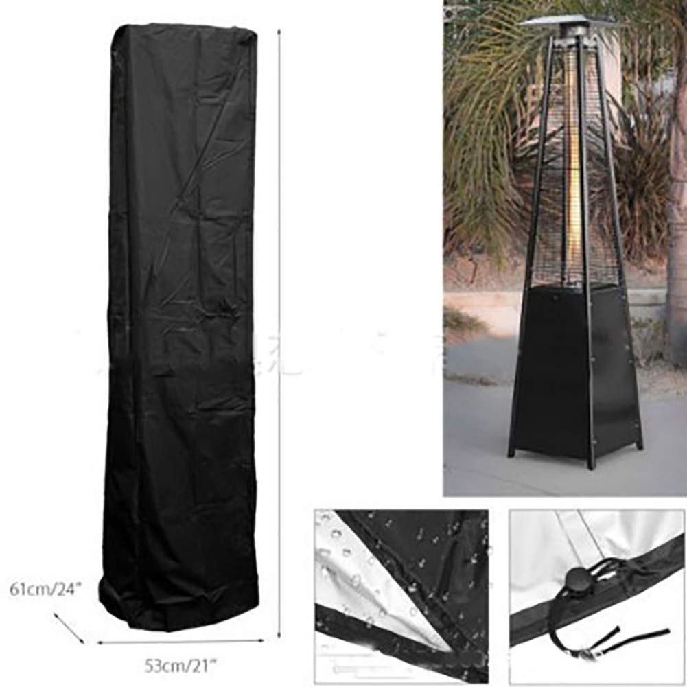 Patio Heater Cover - Heavy Duty Waterproof Veranda Cover for Pyramid Torch Patio Heaters, Triangle Glass Tube Heater Cover - 2PCS by Outdoor furniture cover