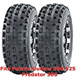 (2) 21x7-10 21x7x10 Polaris Outlaw 500 525 Predator 500 front GNCC Racing Tires