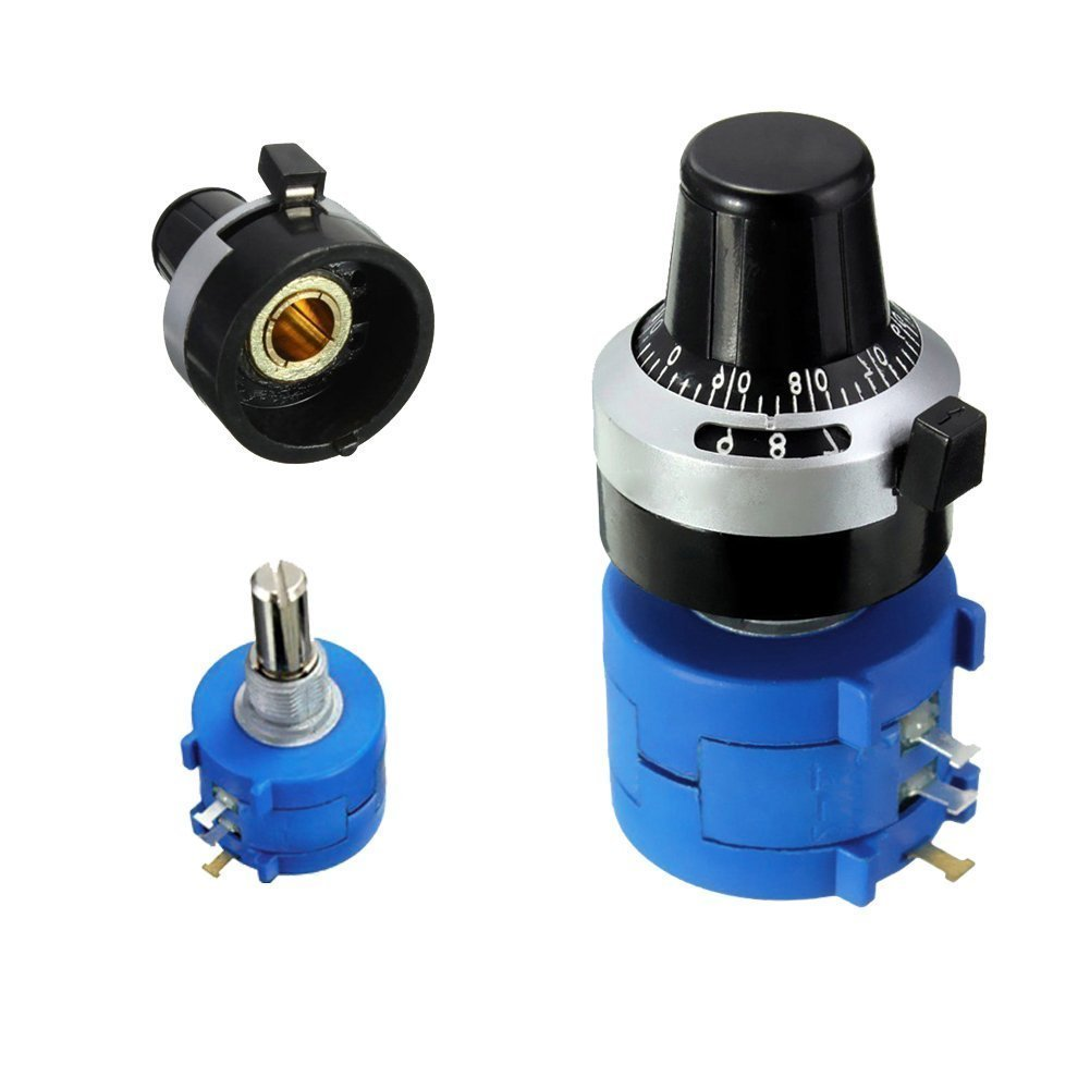 LGDehome 3590S-2-502L 5K Resistor Ohm Rotary Wire Wound Precision Potentiometer Pot with 10 Turn Counting Dial Rotary Knob The Scale knob Set by LGDehome (Image #3)