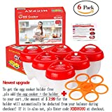 #10: Egglette Egg Cooker - Hard Boiled Eggs without the Shell, Eggies AS SEEN ON TV,6 Pack (Free with the egglettes Holder)