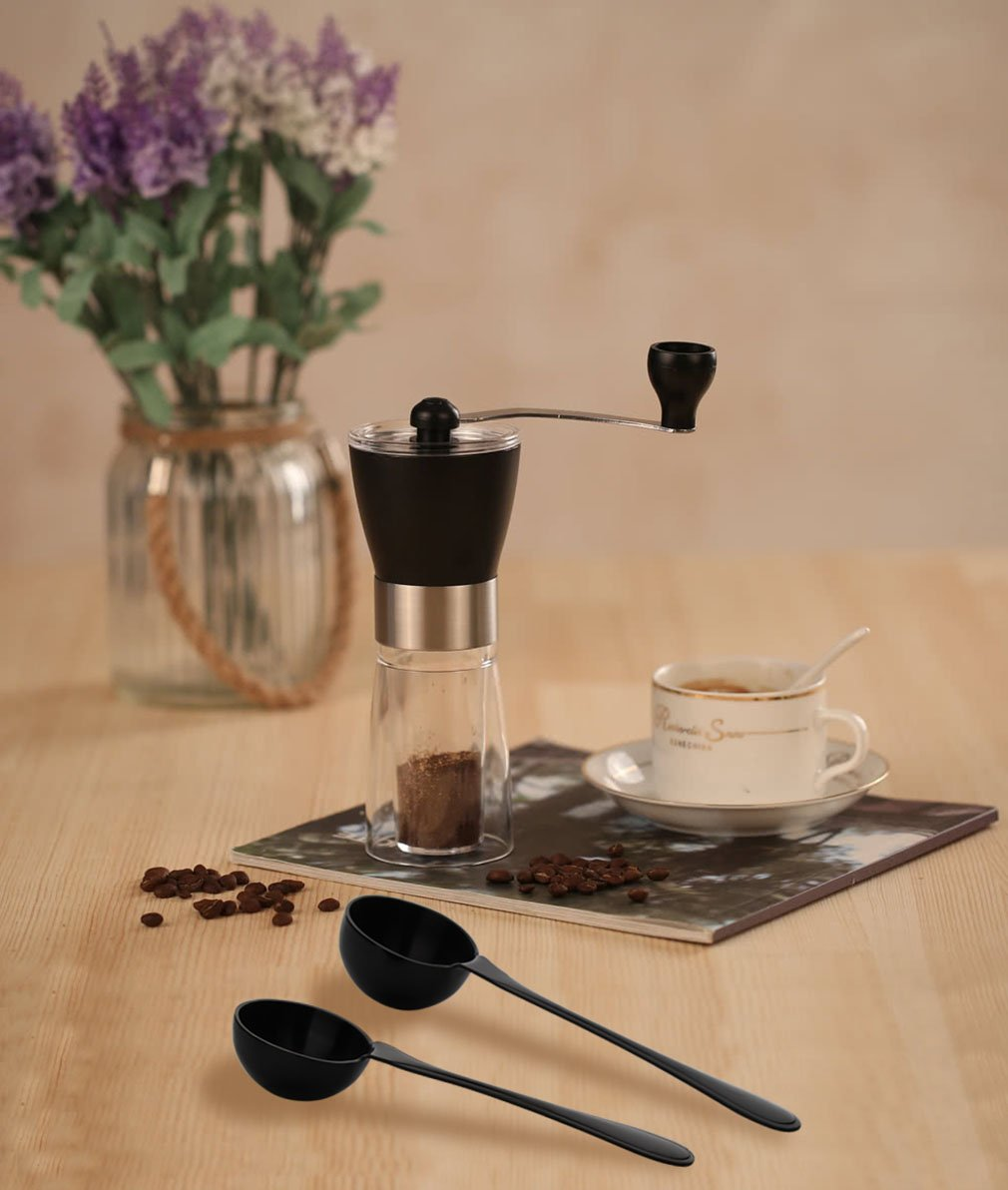 Coffee Scoop Black 18/10 Stainless Steel 4 Piece Set of 2 - (1&2 Tablespoon, 15ml and 30ml) Long Handled Measuring Spoon for Coffee Tea Espresso Sugar Flour and More, 1 Tbsp & 2 Tbsp by Onlycooker (Image #7)