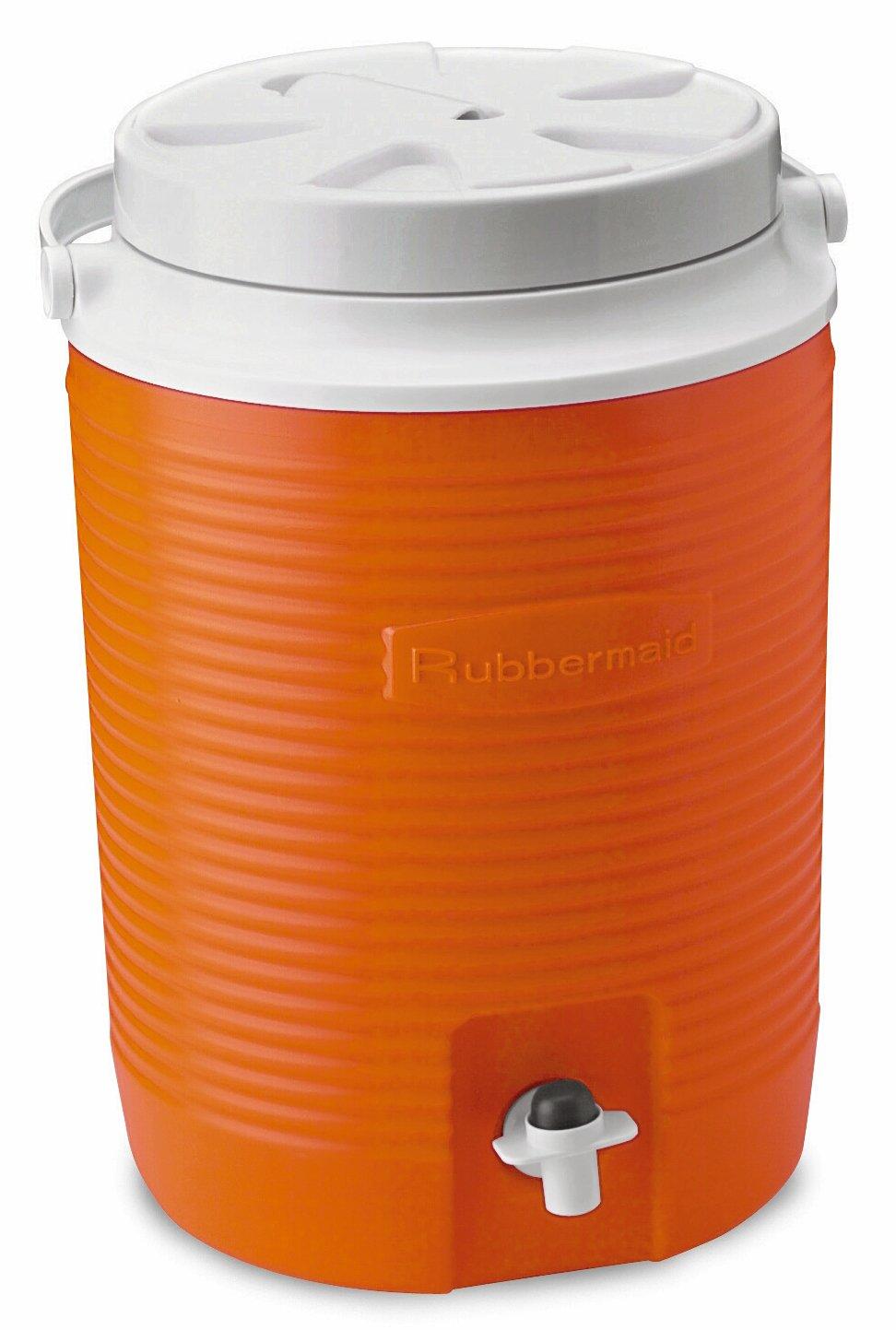 Rubbermaid Victory Jug, 2 Gallon, Orange 1530-04-11