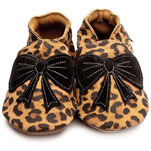 Inch Blue Krabbelschuhe Bow Leopard/Black, Child Extra Large