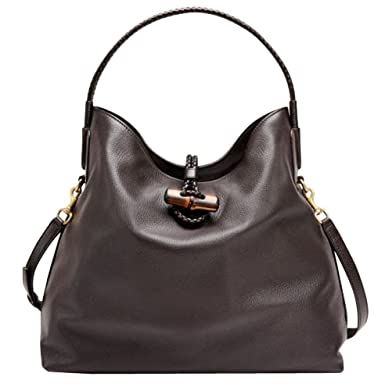 b8667e509c72 Image Unavailable. Image not available for. Color: Gucci Bamboo Brown Leather  Soft Deer Large Tote ...