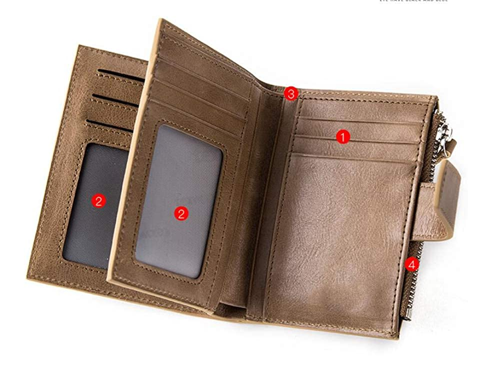 Mens leather wallet,multi-function,drivers license,wallet