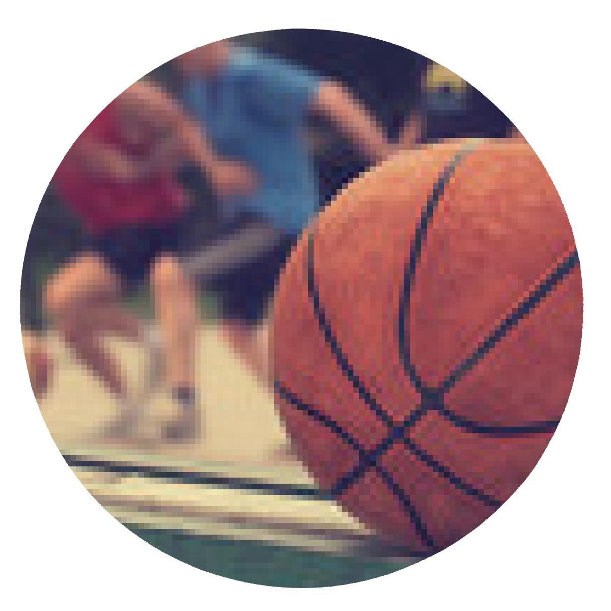 alfombrilla de ratón pelota de baloncesto en un banco con los ...