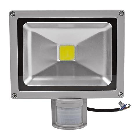 Faro a led de 30 W con sensor de movimiento PIR crepuscular Foco de LED luz
