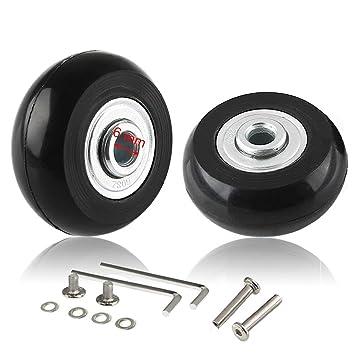 cnevison ruedas de equipaje de repuesto, 40 x 18 maleta Scooter Inline Skate Roller rueda Kits de reparación con ABEC 608zz rodamientos ejes PC ruedas: ...