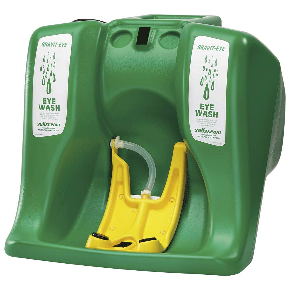 Sellstrom Eye Wash Station, Portable, Gravity Flow Emergency Washing, First Aid Equipment with 16 Gallon Tank, Dual Spray Heads for Worksite and Recreational Accidents, Meets ANSI, S90320: Science Lab Eye Wash Units: Industrial & Scientific