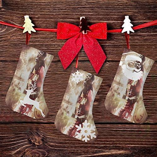 クリスマスの日の靴下 (ソックス3個)クリスマスデコレーションソックス トルコサッカー クリスマス、ハロウィン 家庭用、ショッピングモール用、お祝いの雰囲気を加える 人気を高める、販売、プロモーション、年次式