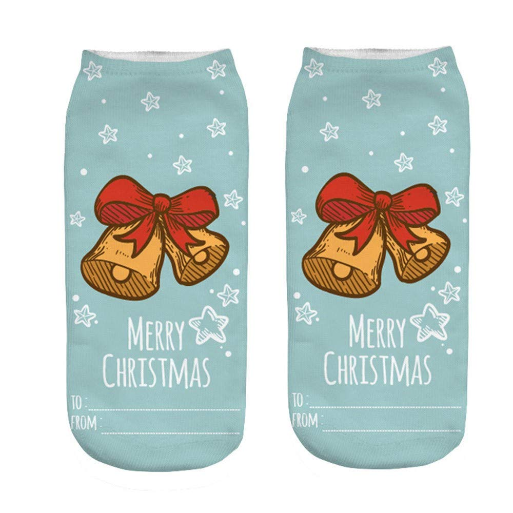 2019 Newest Socks For Men Pack, 3D Cartoon Funny Christmas Crazy Cute Amazing Novelty Print Ankle Socks,