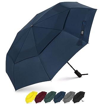 Paraguas de viaje de G4Free, compacto, con cierre seguro, doble ...