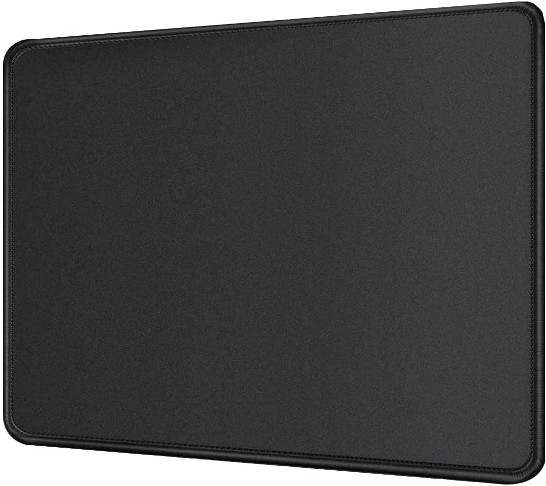 Thick Office Laptop Mouse Pad Gaming Desk Mat Table Protector Desktop Kids Play Mat for Wired or Wireless Magic Mouse, Apple MacBook, Surface, Lenovo, Samsung Laptop NX89DM, 9x7 - Black