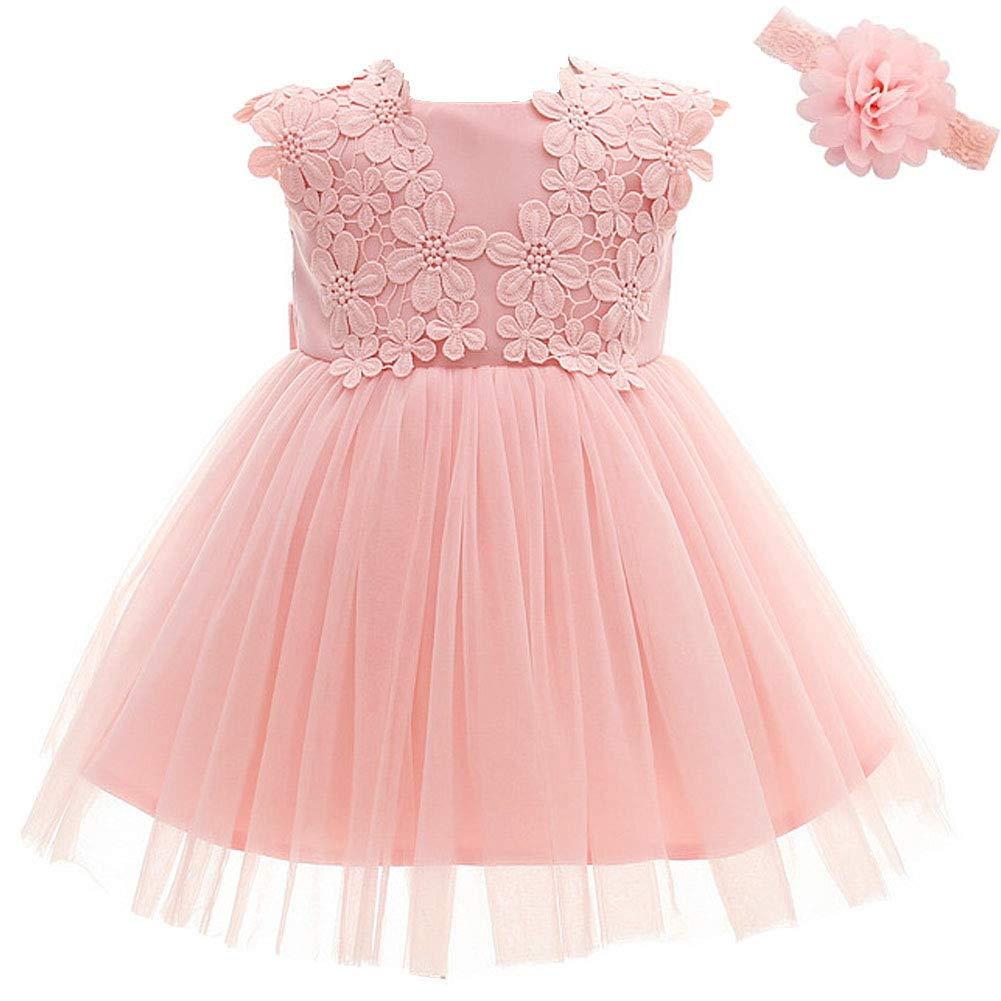 Baby Girl Dress Christening Baptism 2PCS Gowns Formal Dress Moon Kitty ZDHT370