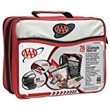 Lifeline AAA Excursion Road Kit, 76-Piece Car Kit with Air Compressor, Jumper Cables, Flashlight and First Aid Kit