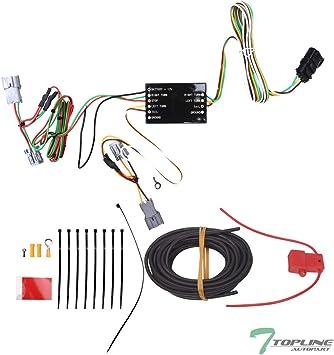 [TBQL_4184]  Amazon.com: Topline Autopart Trailer Tow Hitch 4 Way Flat Wiring Harness T- Connector For 06-14 Kia Sedona / 07-08 Hyundai Entourage: Automotive   T Connectors Wiring Harness      Amazon.com