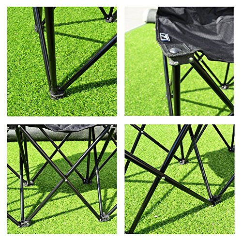 Benefitusa 3 Seater Sideline Bench Portable Folding Team