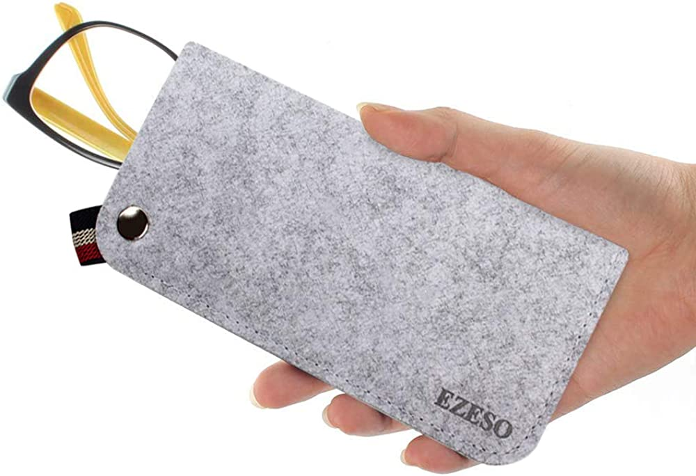 Paquete de 3 bolsas de fieltro para gafas de sol bolsa de almacenamiento port/átil suave deslizamiento en bolsillo gafas bolsa caso