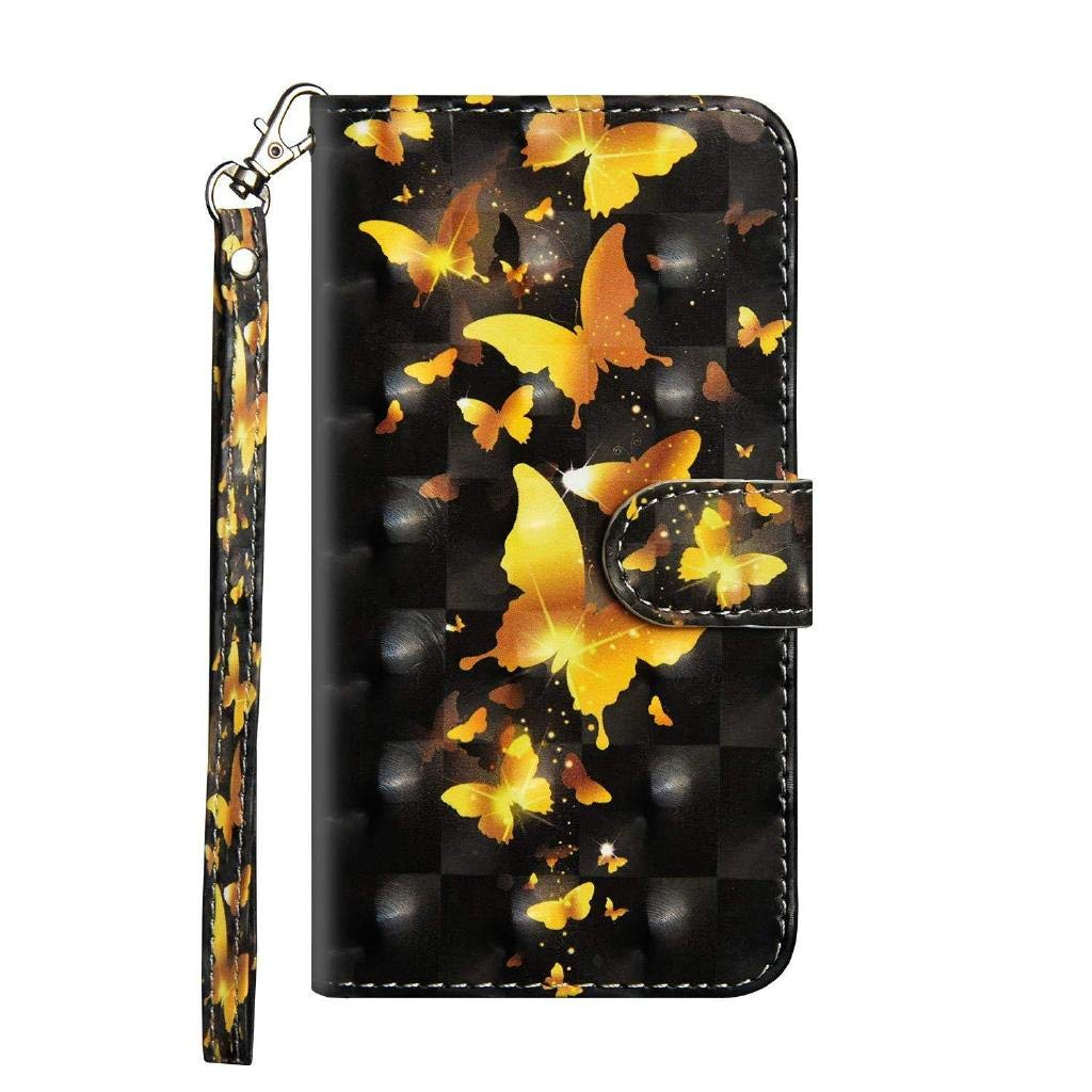 Veapero Samsung Galaxy A50 Case,Shockproof PU Leather Flip Cover Notebook Wallet Case with Magnetic Closure Stand Card Holder ID Slot Folio Soft TPU Bumper Protective Skin,Black Lace