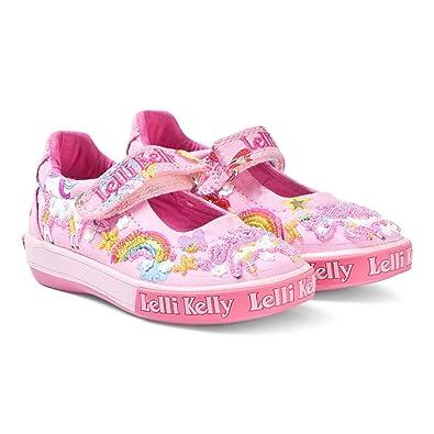 2dc1bba8ca9c0 Amazon.com | Lelli Kelly LK9050 Pink Fantasy Unicorn Dolly Shoes, Size US 6  / EU 22 | Sneakers