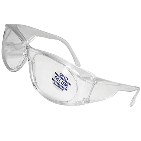 c29d5887f6e Mag-Safe Full Magnifying Reader Safety Glasses Reading Magnifier Eyewear  Available from 1.25-3.00 Select Full Magnifier 1.50